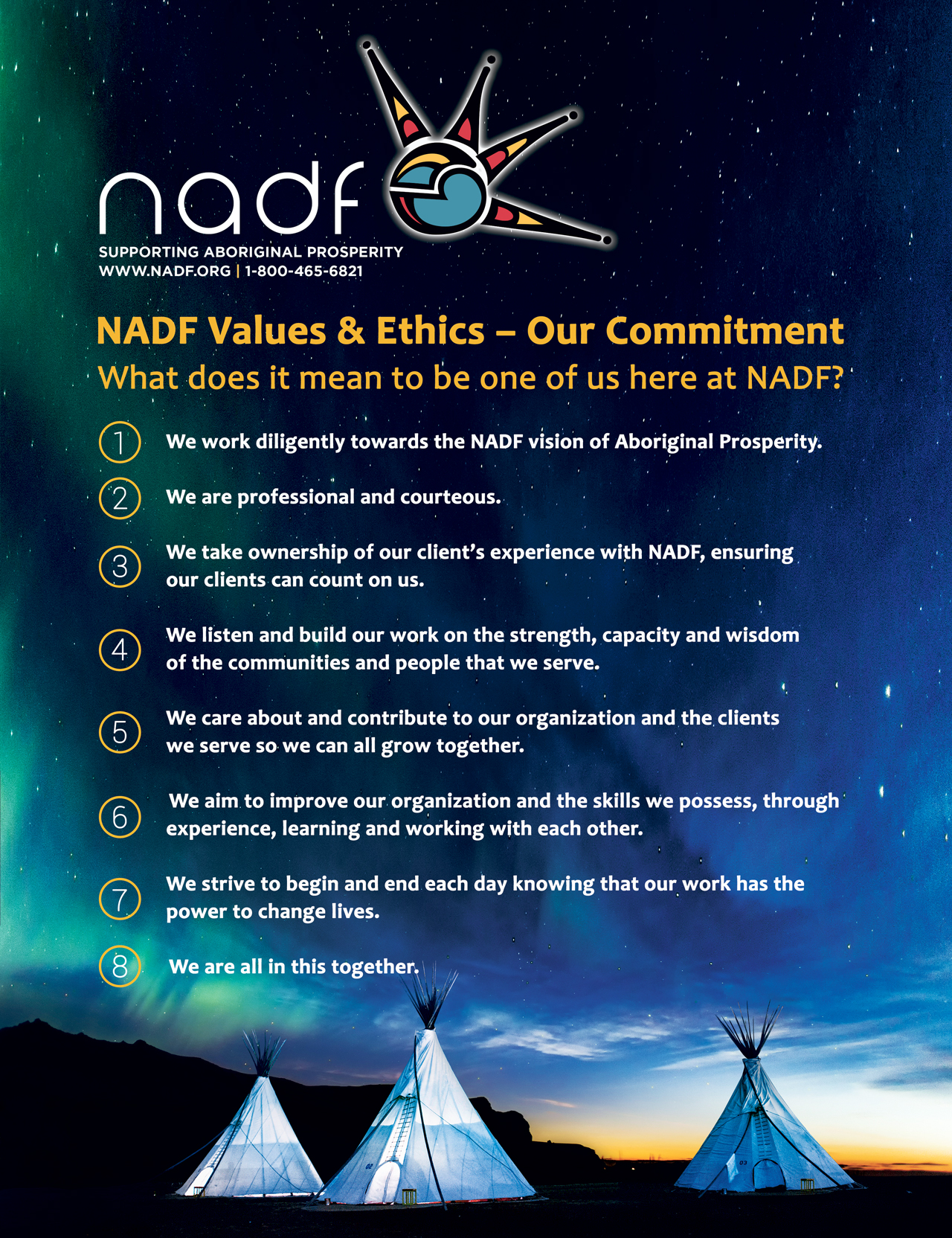 NADF Values & Ethics Poster